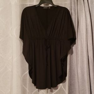 Empire waste flutter sleeves blouse
